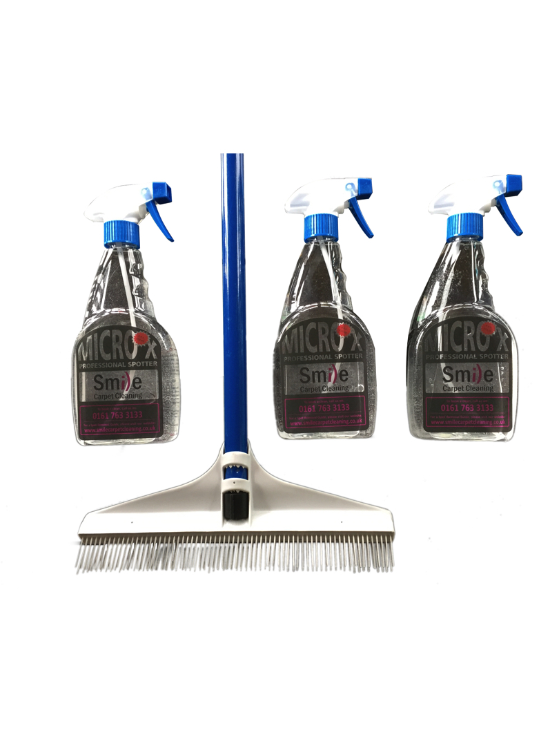 3 Spot remover and carpet rake jpeg