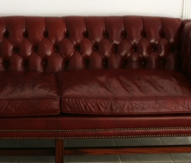 How do I get red wine out of my sofa